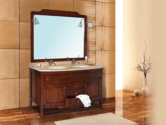 Mobile bagno arte povera doppio lavabo mobilia la tua casa - Lavabo doppio bagno ...