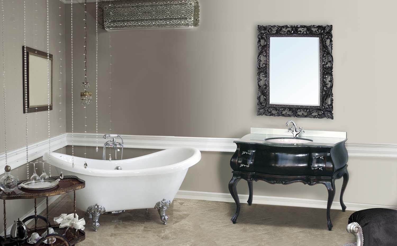 La bussola arredamenti bagni consolle for Specchio bagno retro