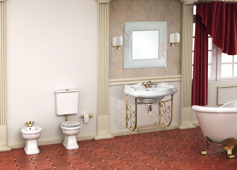 La bussola arredamenti bagni consolle ottone - Consolle bagno classico ...