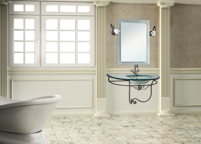 Mobili bagno ferro design casa creativa e mobili ispiratori - Bagno ferro battuto ...